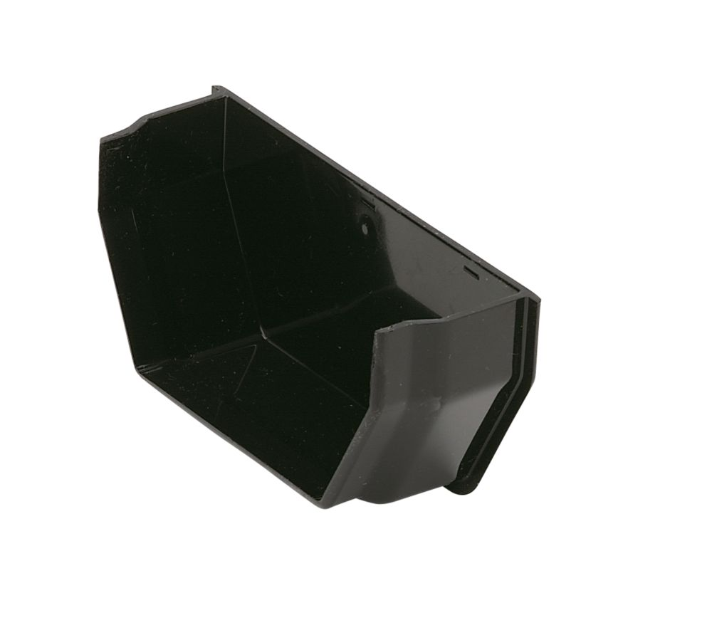 Square Line Black Internal Stop End 114mm