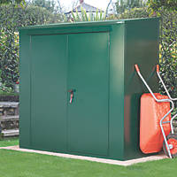 Asgard Trojan All-Metal Garden Storage Unit with Assembly Green 2.2 x 1m