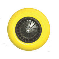Belle Group Fort Flex Pro Puncture-Proof Wheel Wheelbarrow Wheel Yellow / Black 150kg
