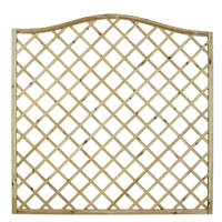Forest Hamburg Open-Lattice Fence Panels 1.8 x 1.8m 9 Pack