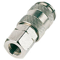 """Female Universal Quick Release Coupler ¼"""" BSP Pack of 3"""