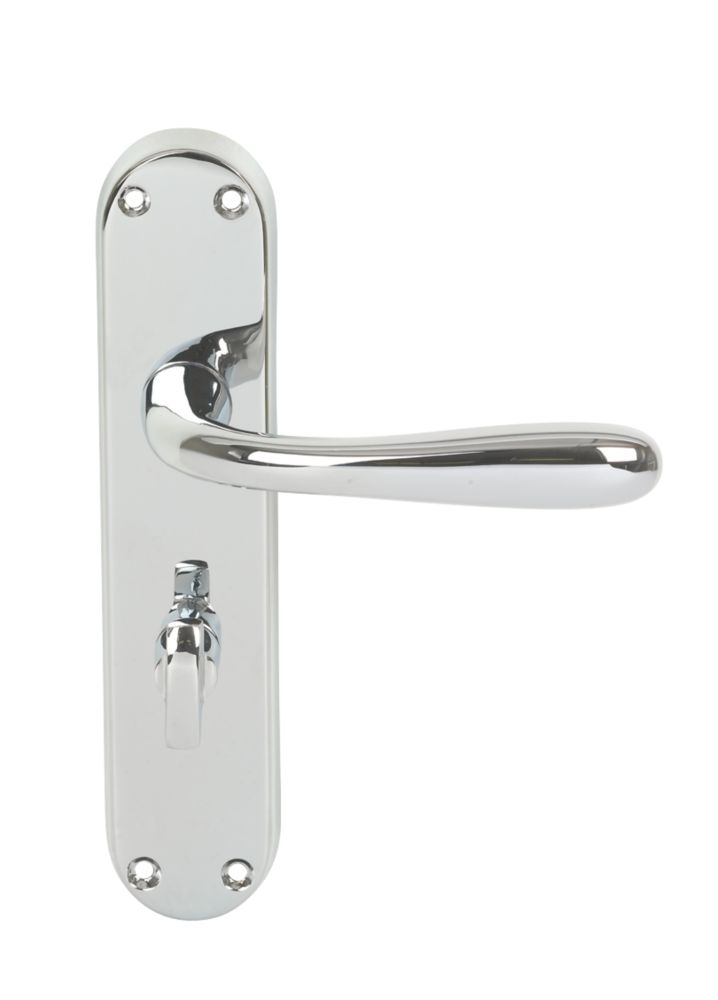 Eclipse 710 Series Lever on Backplate WC Door Handles Pair Chrome
