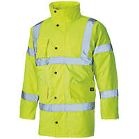 "Dickies  Hi-Vis Motorway Safety Jacket Saturn Yellow Small 38"" Chest"