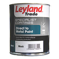 Leyland Trade Smooth Metal Paint Black 750ml