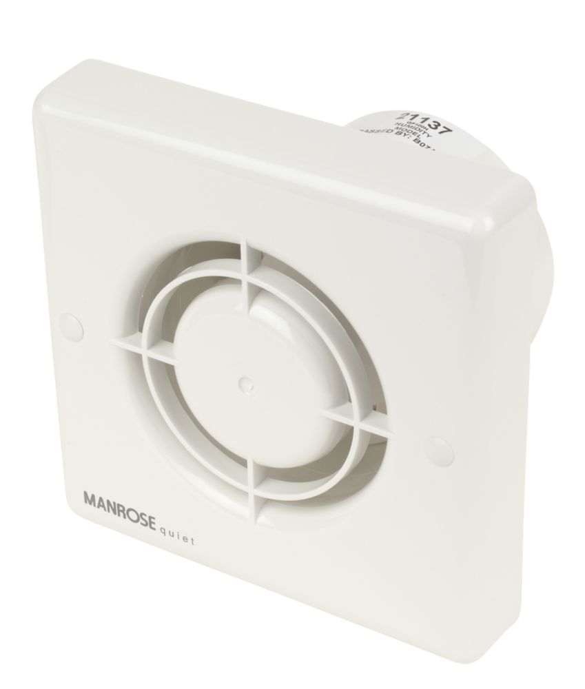 Manrose QF100H Quiet Fan Bathroom Axial Extractor Fan 5W w/Timer/Humidistat