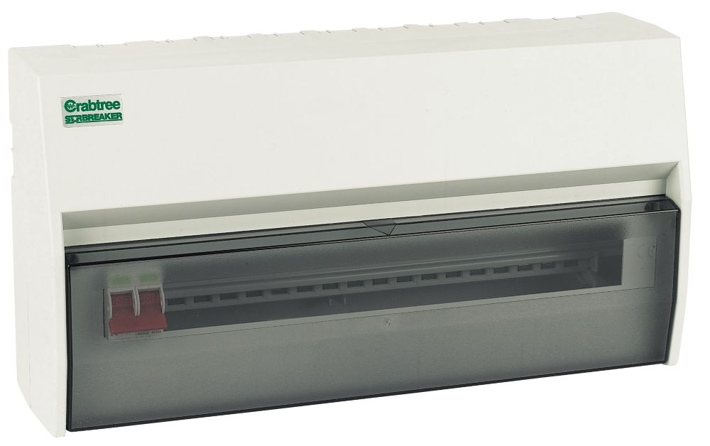 Crabtree 18-Way Fully Insulated Main Switch Consumer Unit
