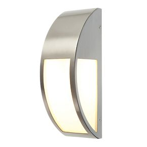 convex brushed s steel wall light 40w outdoor wall. Black Bedroom Furniture Sets. Home Design Ideas