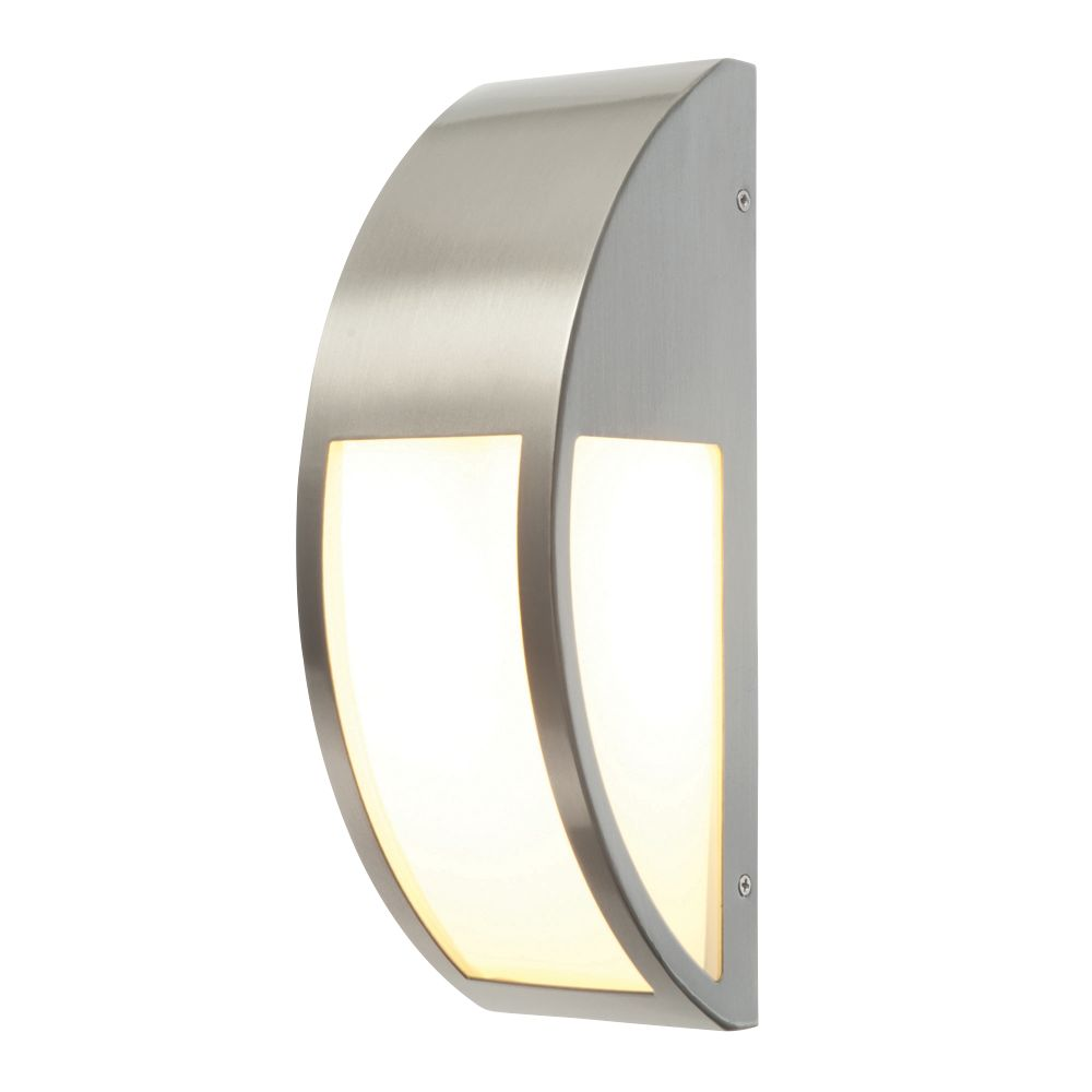 Screwfix Outdoor Wall Lights : Convex Brushed S/Steel Wall Light 40W Outdoor Wall Lights Screwfix.com