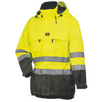 "Helly Hansen Hi-Vis Parka Jacket Yellow/Charcoal Large 42½"" Chest"