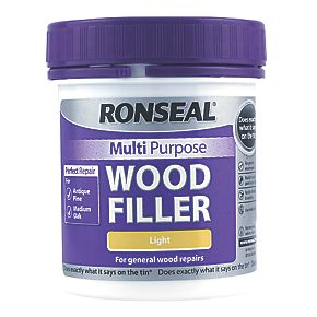 ronseal multipurpose wood filler light 250g wood fillers. Black Bedroom Furniture Sets. Home Design Ideas