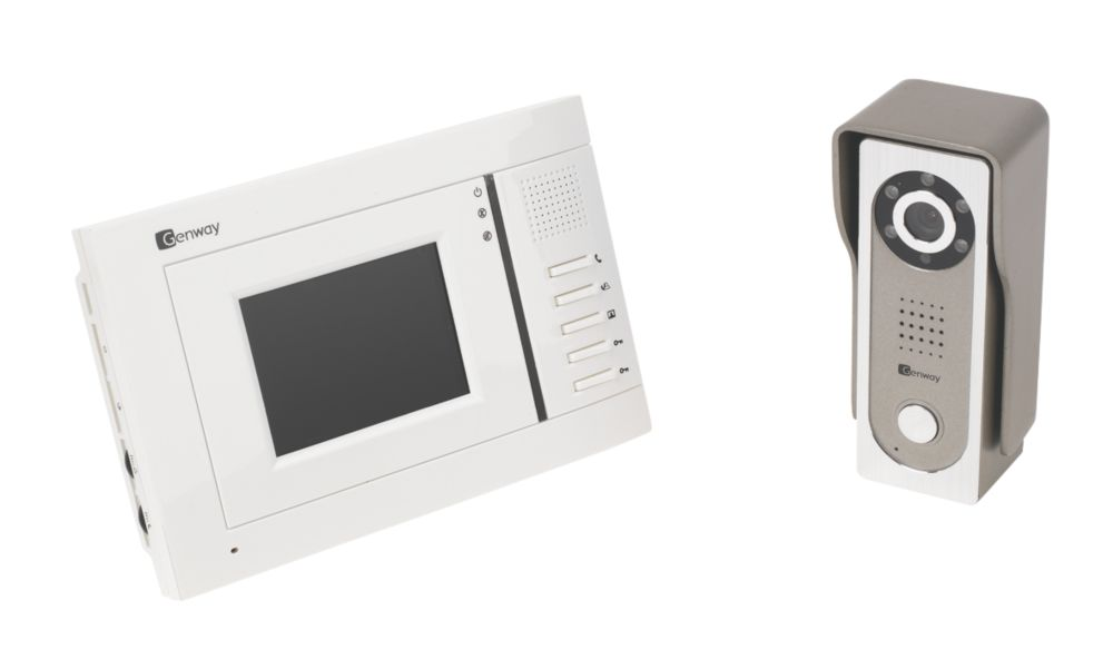 Tate 1-Way Video Door Entry Kit with Colour TFT Monitor