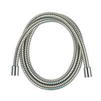 Moretti D Locking Brass Shower Hose Flexible Chrome 9mm x 1.5m