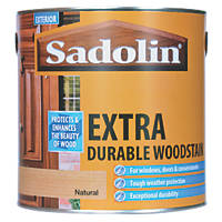Sadolin Extra Durable Woodstain Semi-Gloss Finish Natural 2.5Ltr