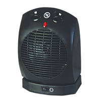 Portable Oscillating Fan Heater 1000 / 2000W