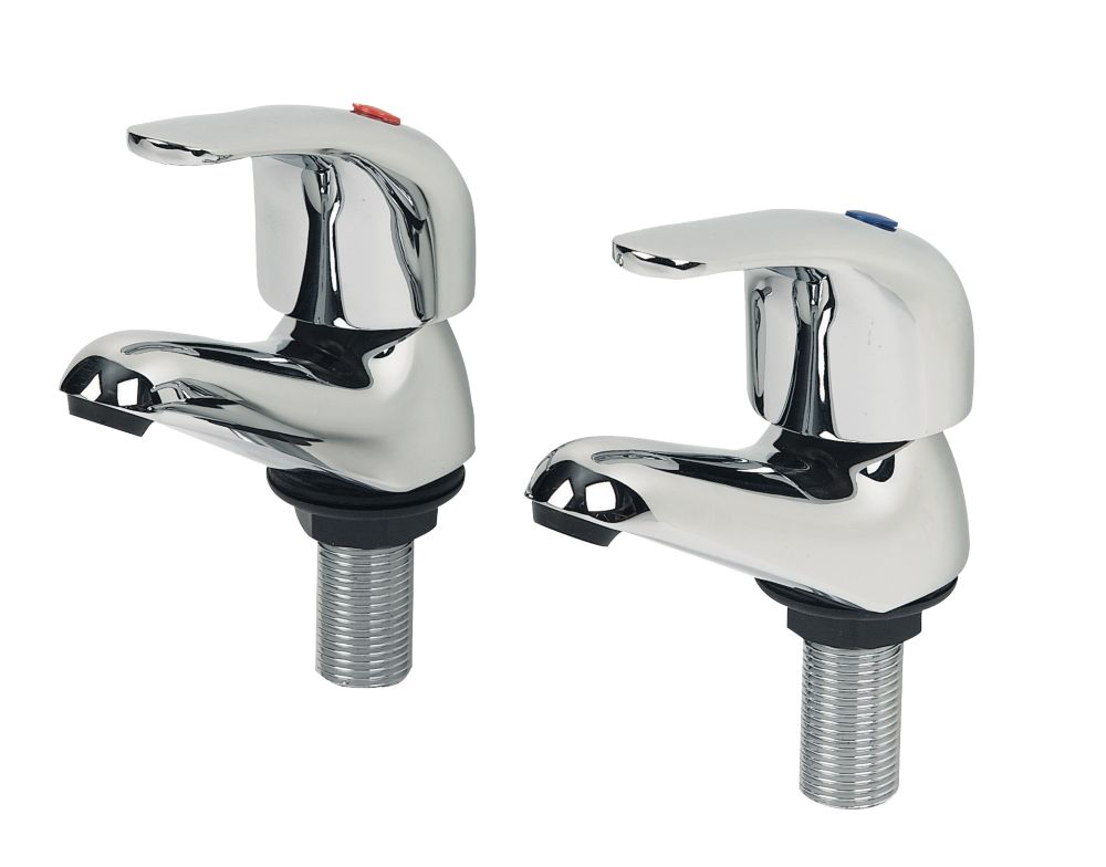 Swirl Single Lever Bathroom Basin Taps Pair