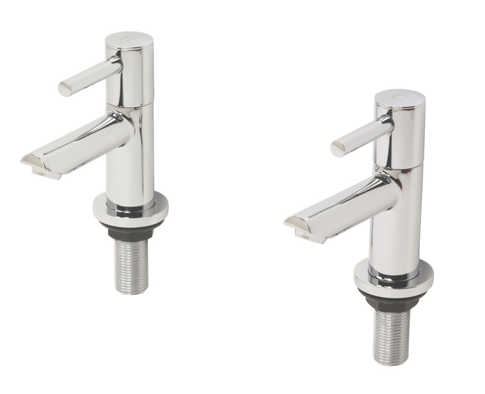 Swirl Essential Bathroom Basin Taps Pair