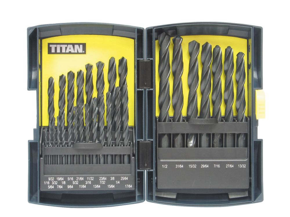 Titan HSS Drill Bit Set Imperial 29 Pc