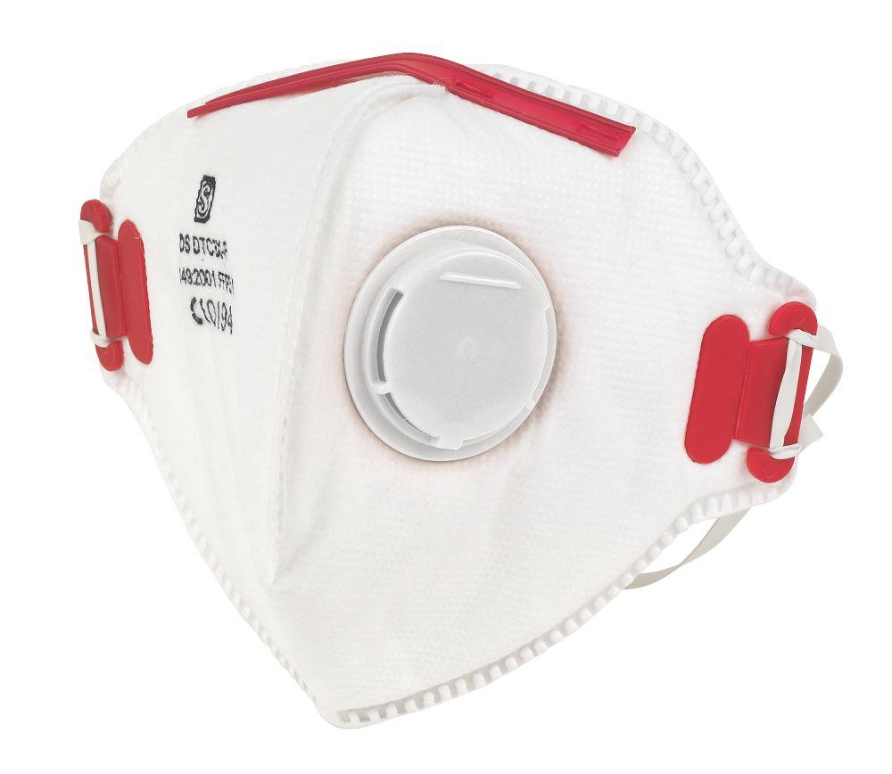 Fold Flat P3 Dust Mask Valved
