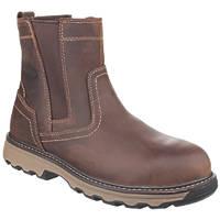 CAT Pelton Safety Boots Dark Beige Size 9