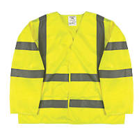 "Hi-Vis Class 3 Waistcoat Yellow Large / X Large 52"" Chest"