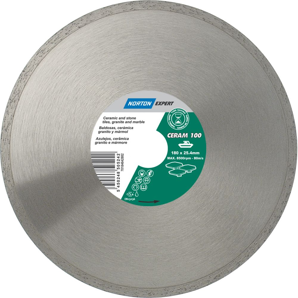 Norton Expert Classic Ceram Diamond Blade 180 x 25.4mm