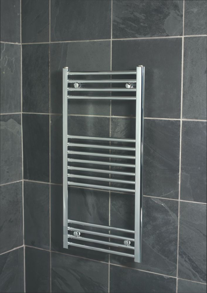 Kudox Flat Ladder Towel Radiator Chrome 1000 x 500mm 245W 835Btu