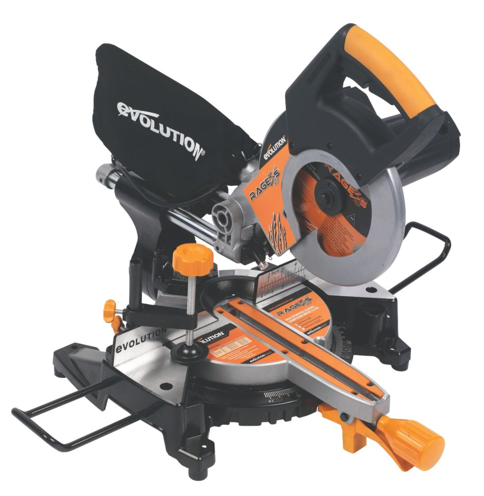 Evolution RAGE3-S 210mm Sliding Mitre Saw 110V