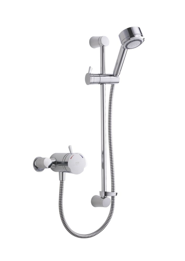 Mira Discovery Thermostatic Mixer Shower Flexible Exposed Chrome