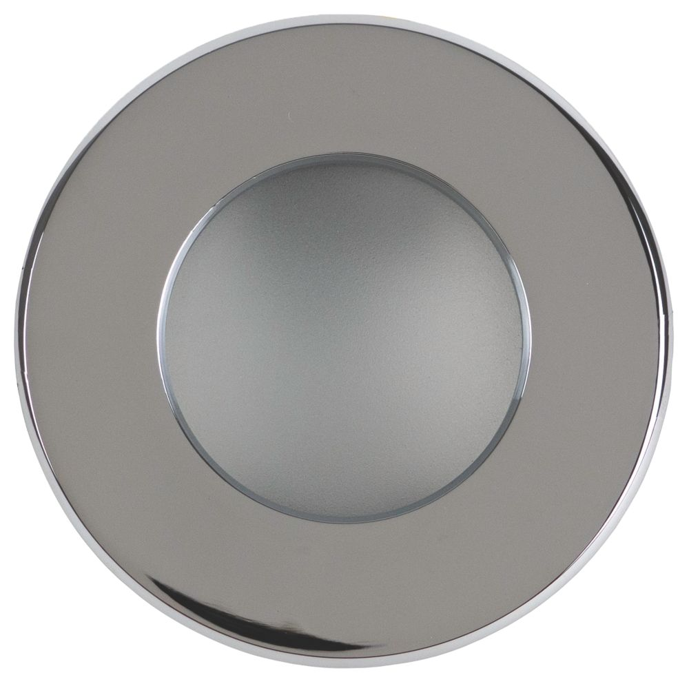 Robus Fixed Round Mains Voltage Bathroom Downlight Polished Chrome 240V