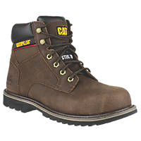 CAT Electric Safety Boots Brown Size 10