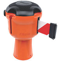 Skipper Retractable Barrier Orange with Red & White Tape