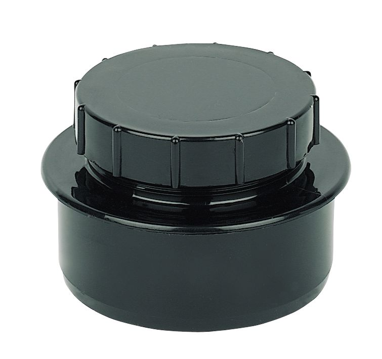 Black Screw-On End Cap SP292
