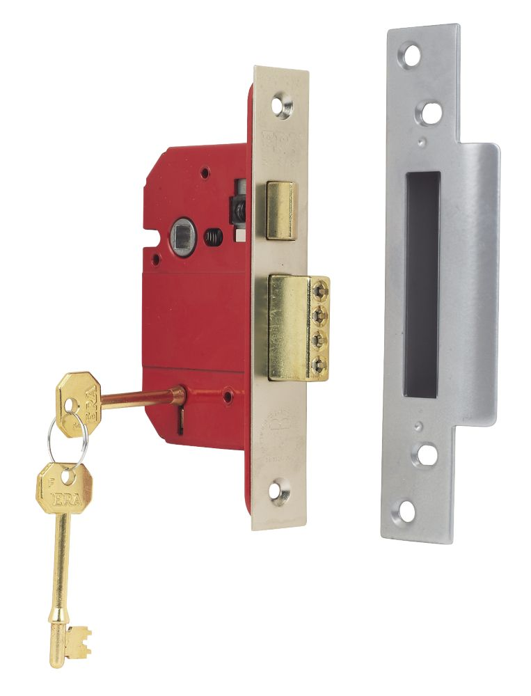 ERA 5-Lever BS 3621: 2007 Mortice Sashlock Satin Nickel 2½ (64mm)