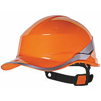 Delta Plus Diamond V Premium Push-Button Safety Helmet Orange