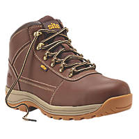 Site Amethyst Safety Boots Brown Size 7