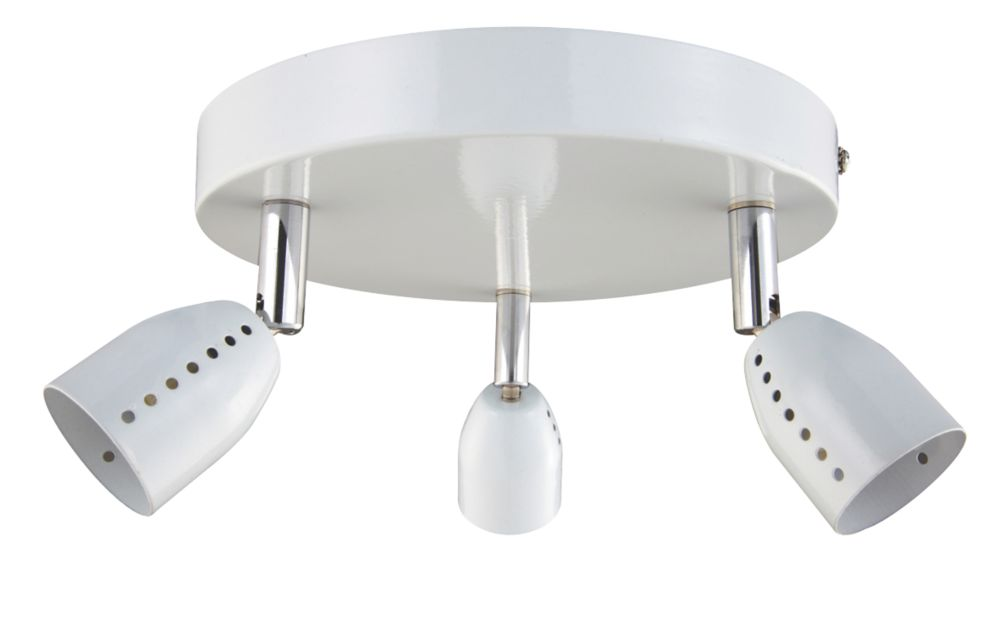 Luno White 3-Light Spotlight