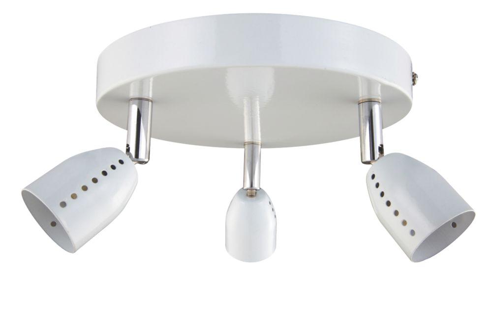 Luno White 3-Light Spotlight