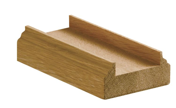 Richard Burbidge Oak 41mm Groove Base Rail White 62 x 28 x 3600mm