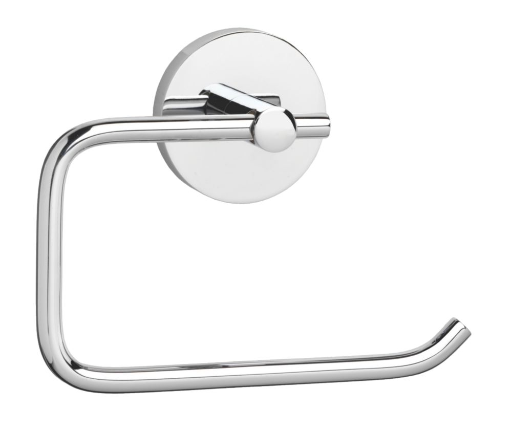 Croydex Flexi-Fix Pendle Toilet Roll Holder Chrome-Plated