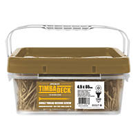 Timbadeck Double Countersunk Carbon Steel Decking Screws 4.5 x 65mm 1300 Pack