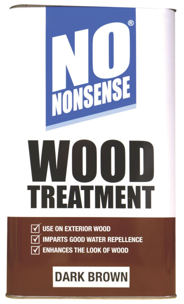 No Nonsense Wood Treatment Dark Brown 5Ltr