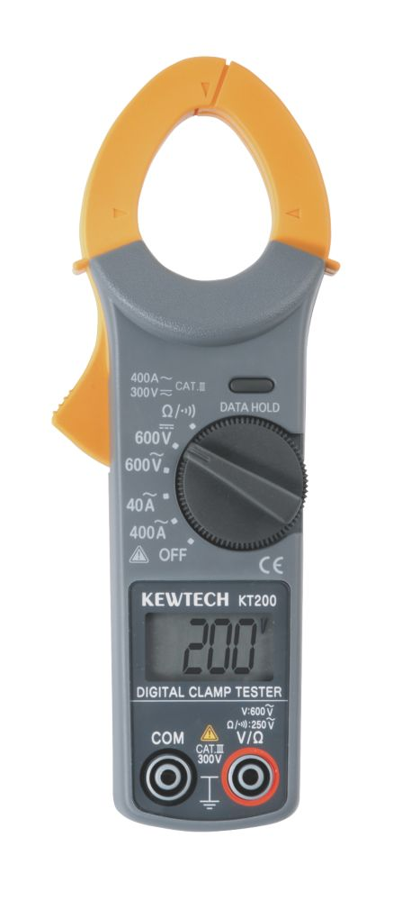 Kewtech KT200 Digital Clamp Meter 400A