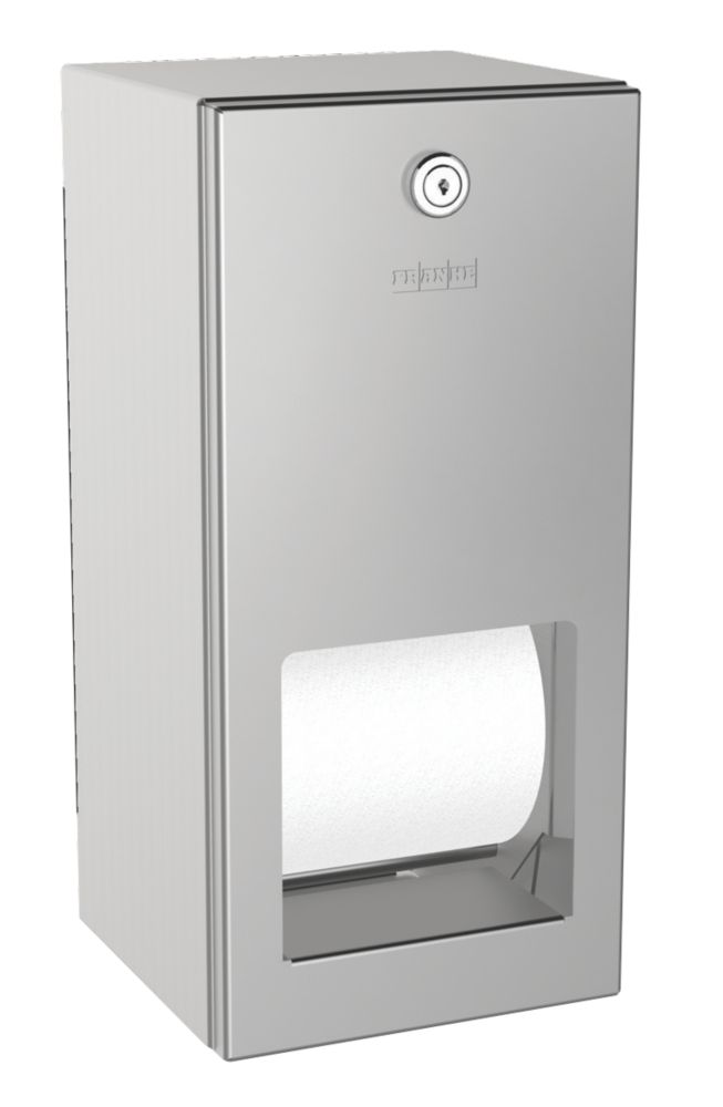 Franke Rodan Lockable Double Toilet Roll Holder Stainless Steel
