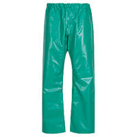 "Alpha Solway CMTE Chemmaster PVC Chemical-Resistant Trousers Green Medium 45"" W 30"" L"