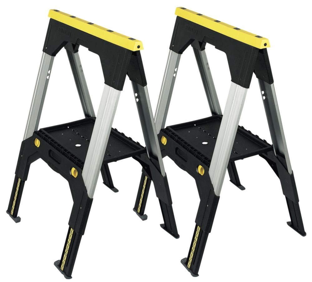 Stanley Fatmax Telescopic Metal Sawhorse Twin Pack