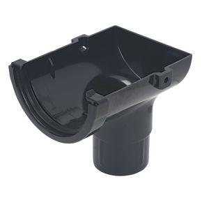 Floplast Mini Line Stopend Outlet 76 50mm Black Mini