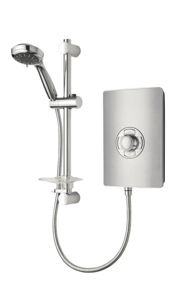 Triton Manual Electric Shower Brushed Steel 8.5kW