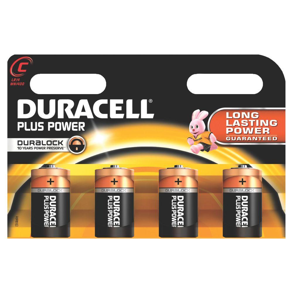 Duracell C Alkaline Batteries Pack of 4