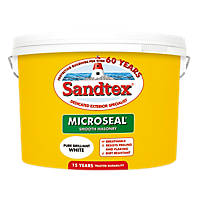 Sandtex Ultra Smooth Masonry Paint Pure Brilliant White 10Ltr