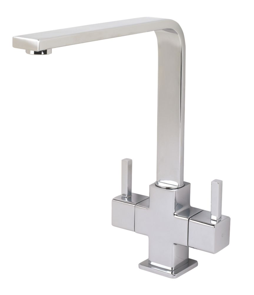 Swirl Cubic Mono Mixer Kitchen Tap Chrome